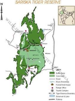 map sariska